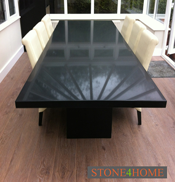 Dining tables stone4home for Quartz top dining table